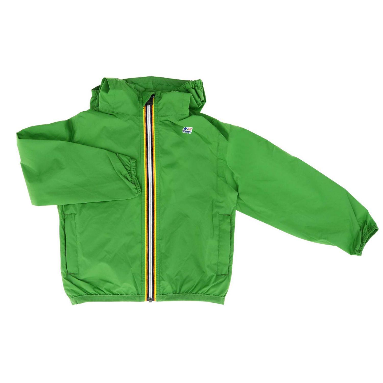 Jacket kids K-way green 1