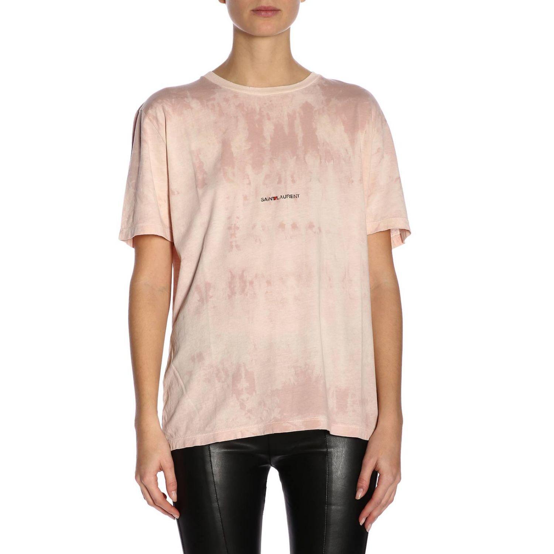 T-shirt damen Saint Laurent pink 1