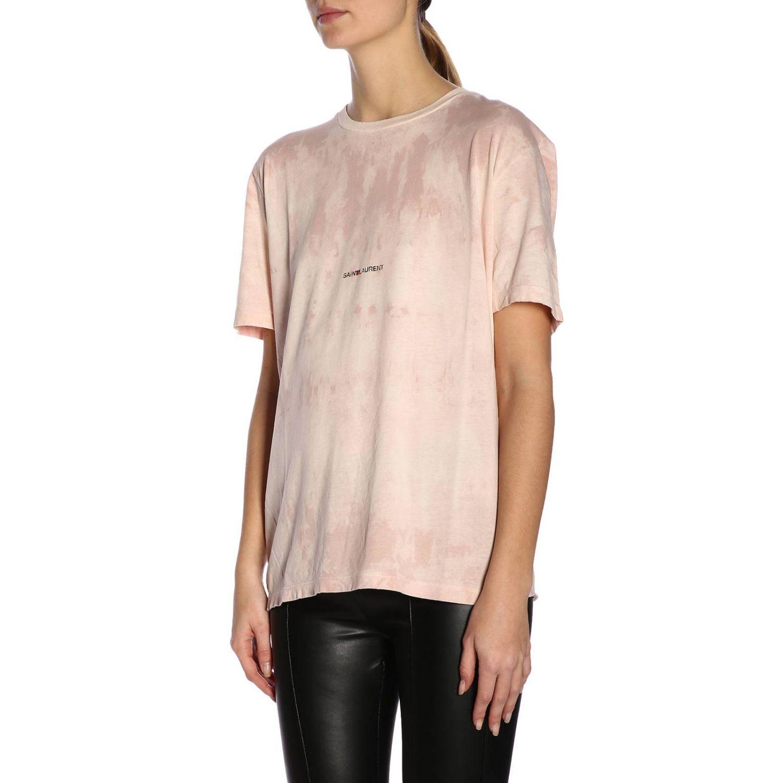 T-shirt damen Saint Laurent pink 2