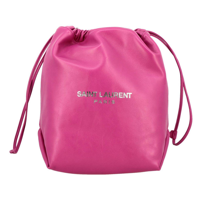 Shoulder bag women Saint Laurent fuchsia 1