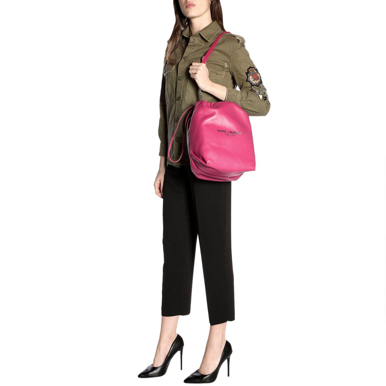 Shoulder bag women Saint Laurent fuchsia 2