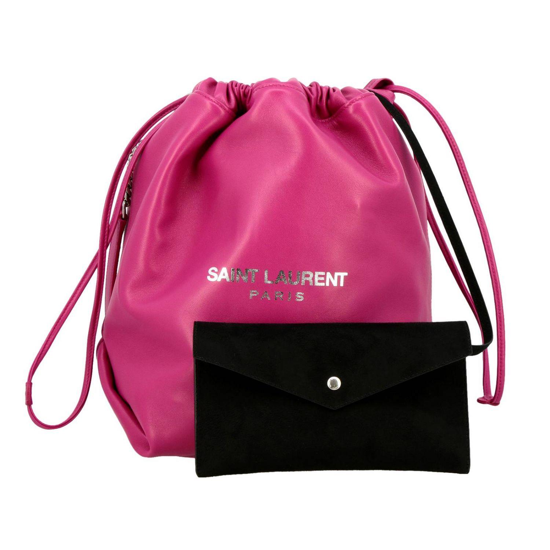 Shoulder bag women Saint Laurent fuchsia 4
