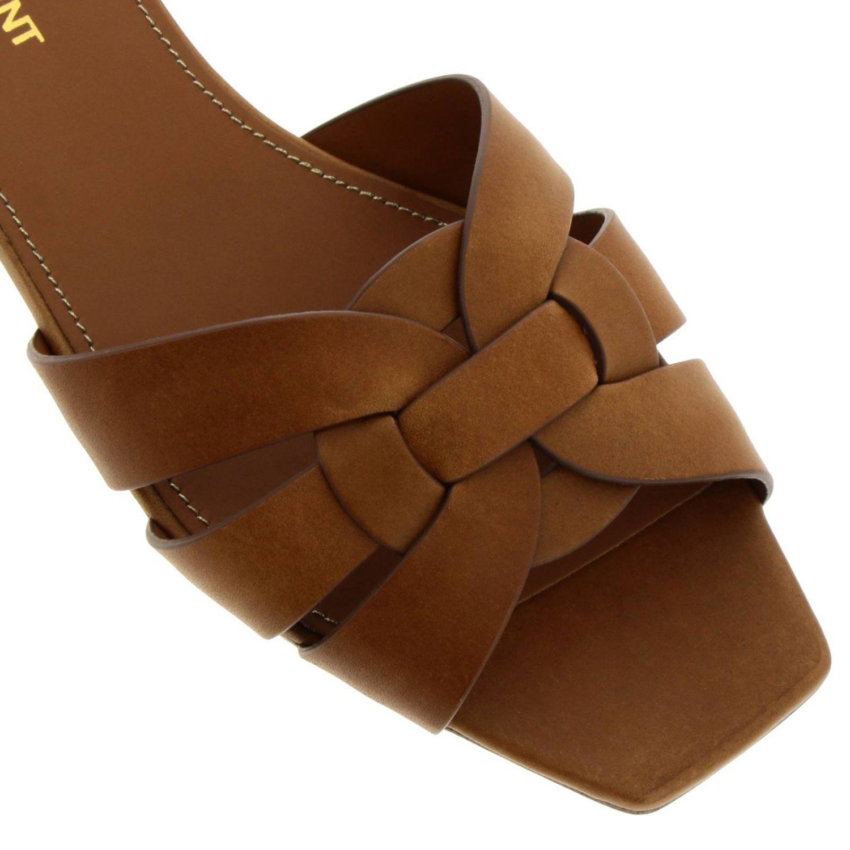 平跟凉鞋 Saint Laurent: 鞋 女士 Saint Laurent 黄棕色 3
