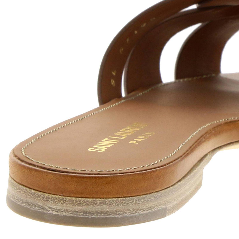 平跟凉鞋 Saint Laurent: 鞋 女士 Saint Laurent 黄棕色 4