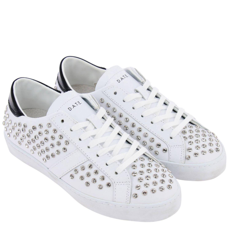 Chaussures femme D.a.t.e. blanc 2