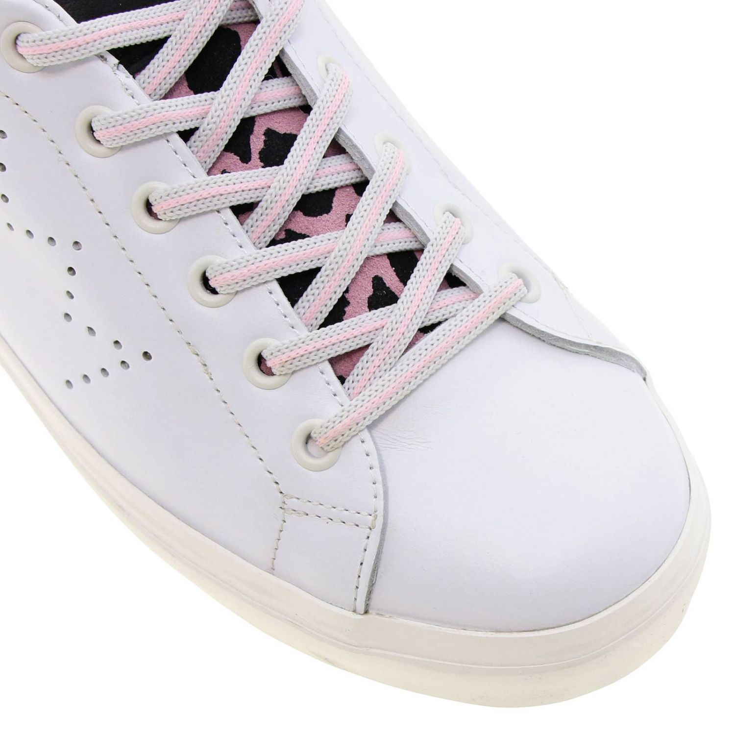 Shoes women Leather Crown pink 3
