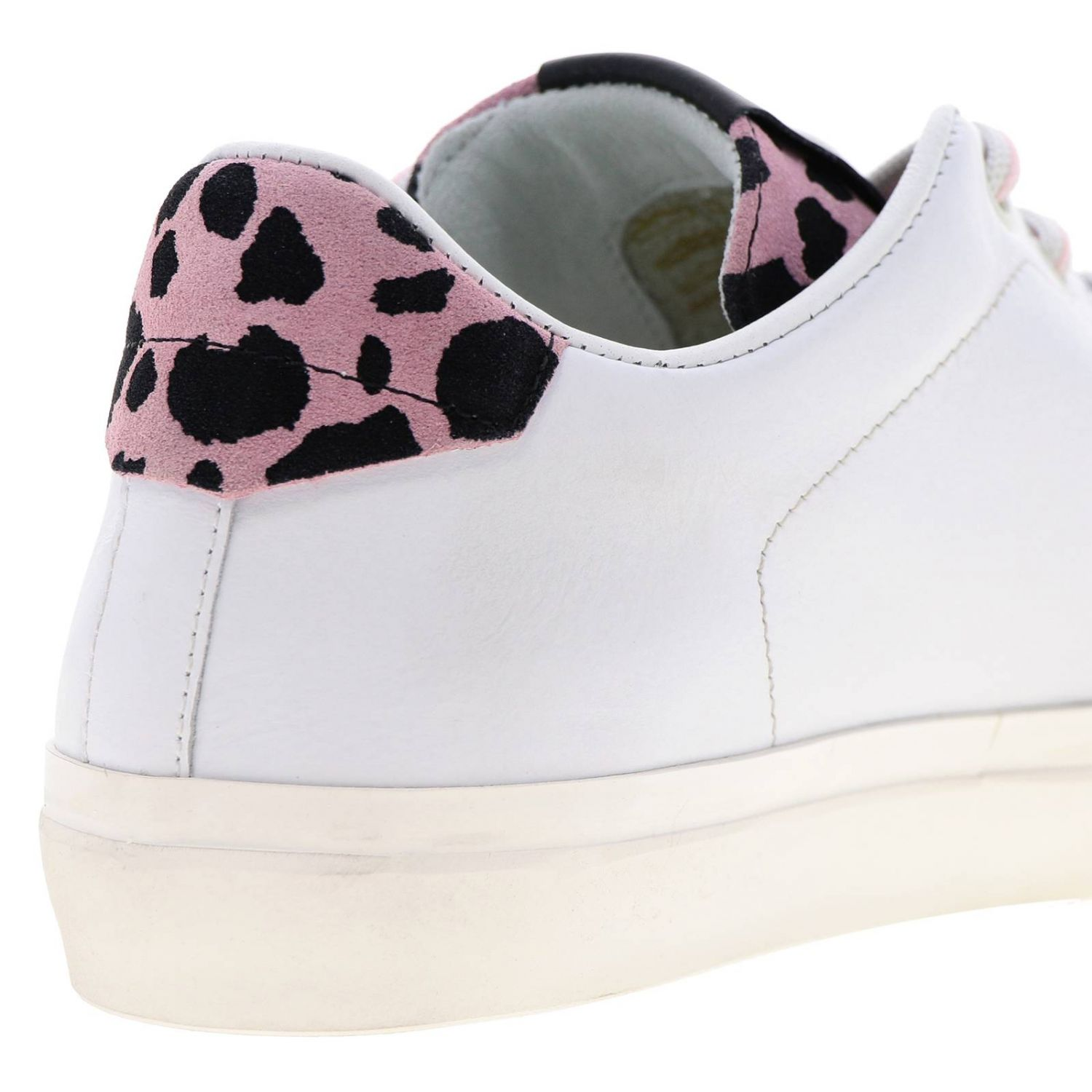 Shoes women Leather Crown pink 4