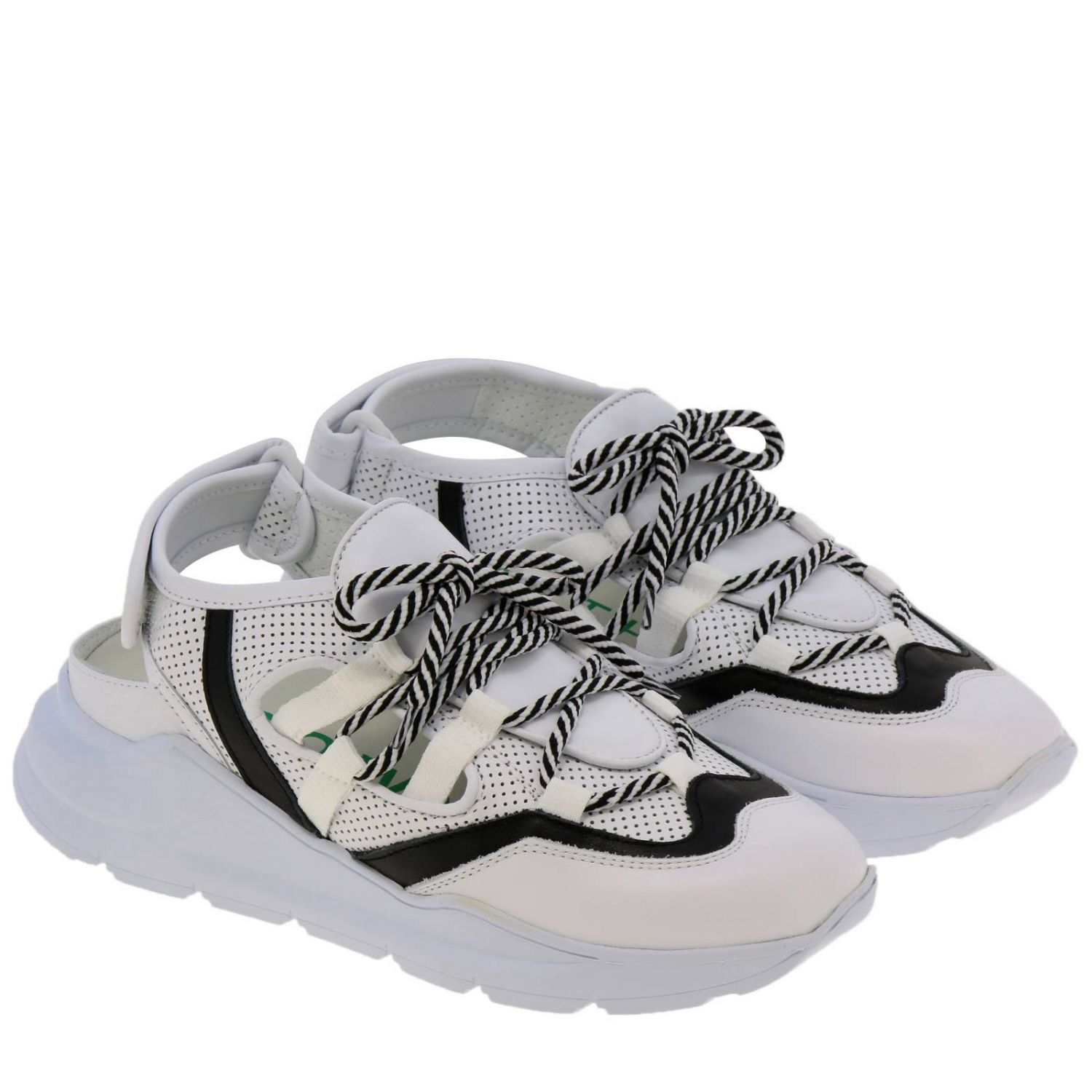 Shoes women Leather Crown white 2