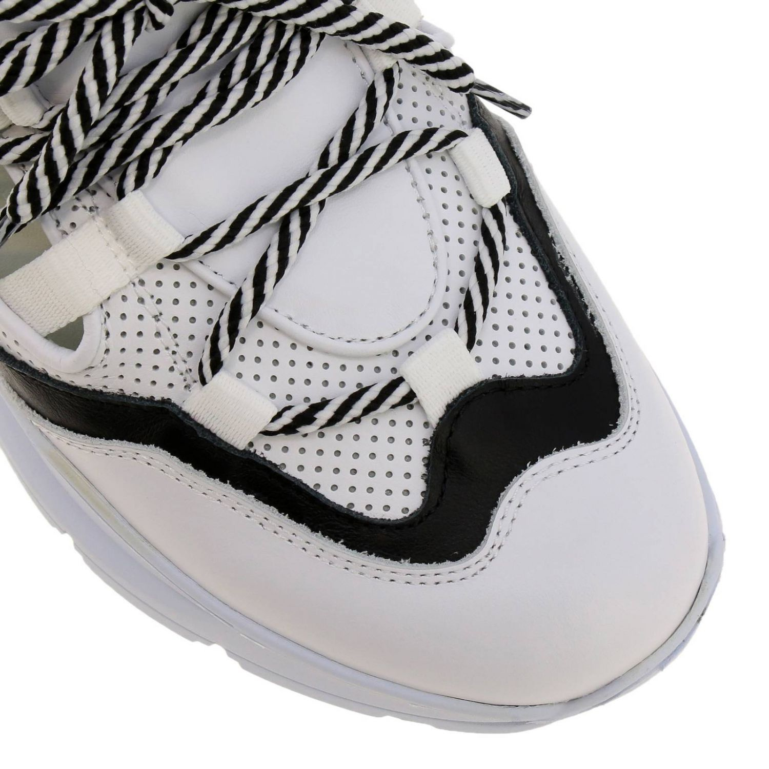 Shoes women Leather Crown white 3