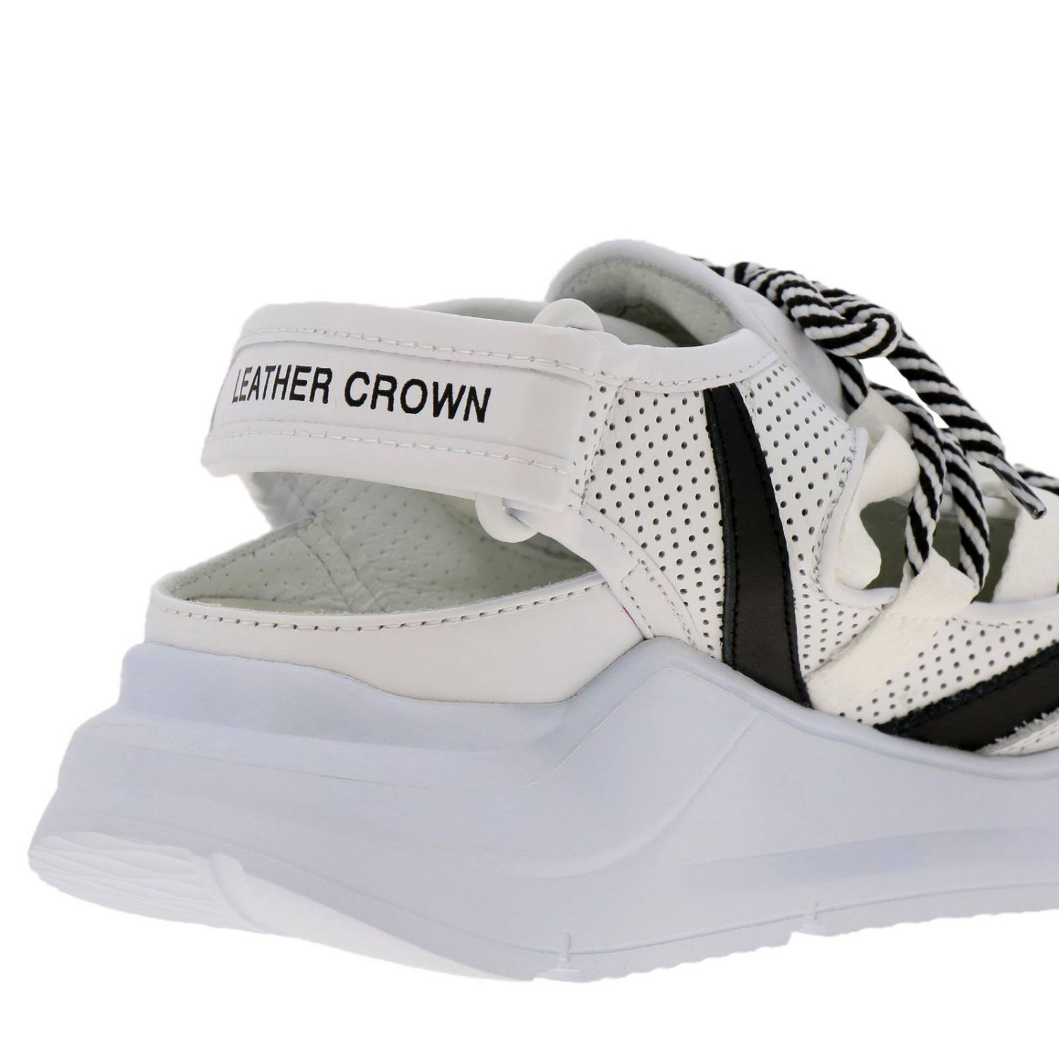 Shoes women Leather Crown white 4