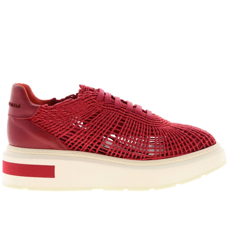 Sneakers Buli-re Manuel Barcelò platform in corda intrecciata rosso 1
