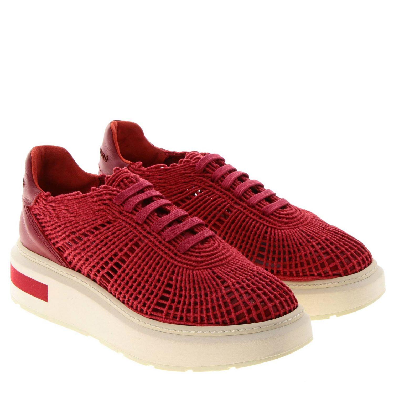 Sneakers Buli-re Manuel Barcelò platform in corda intrecciata rosso 2