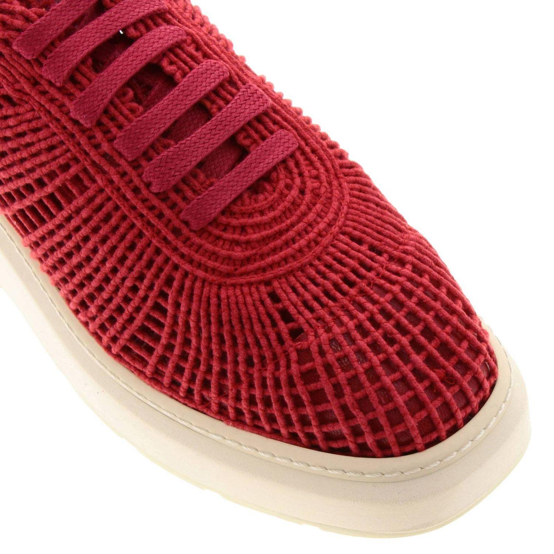 Sneakers Buli-re Manuel Barcelò platform in corda intrecciata rosso 3