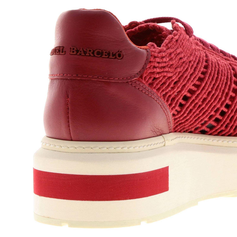 Sneakers Buli-re Manuel Barcelò platform in corda intrecciata rosso 4