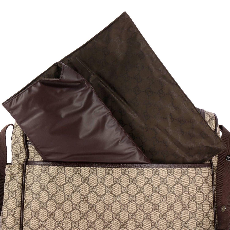 Borsa Mummy in pelle con stampa GG Supreme Gucci beige 3