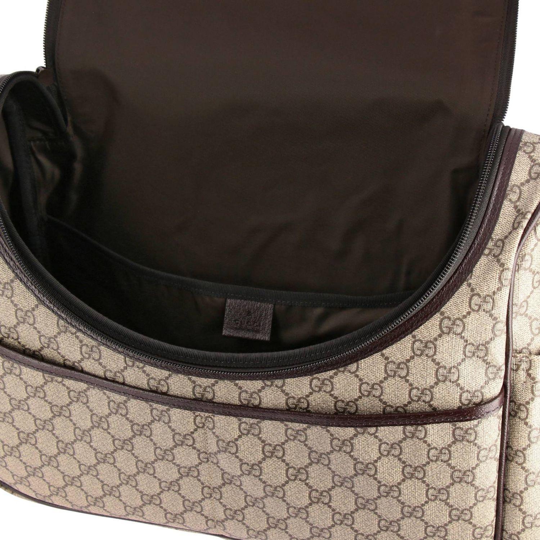 Borsa Mummy in pelle con stampa GG Supreme Gucci beige 4