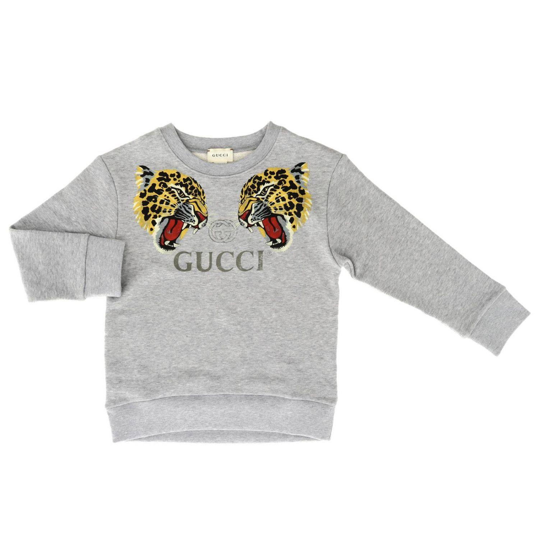 Pull enfant Gucci gris 1