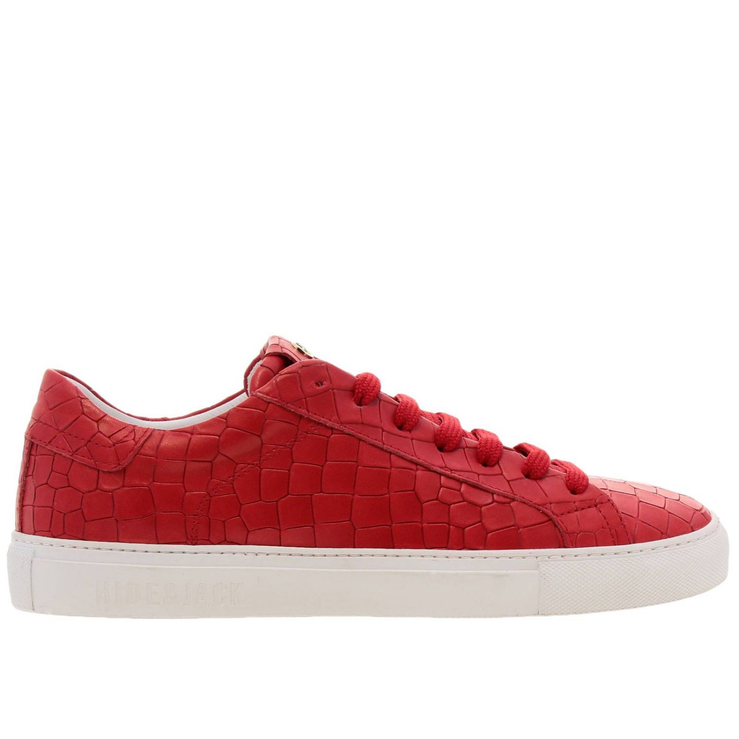 Chaussures homme Hide & Jack rouge 1
