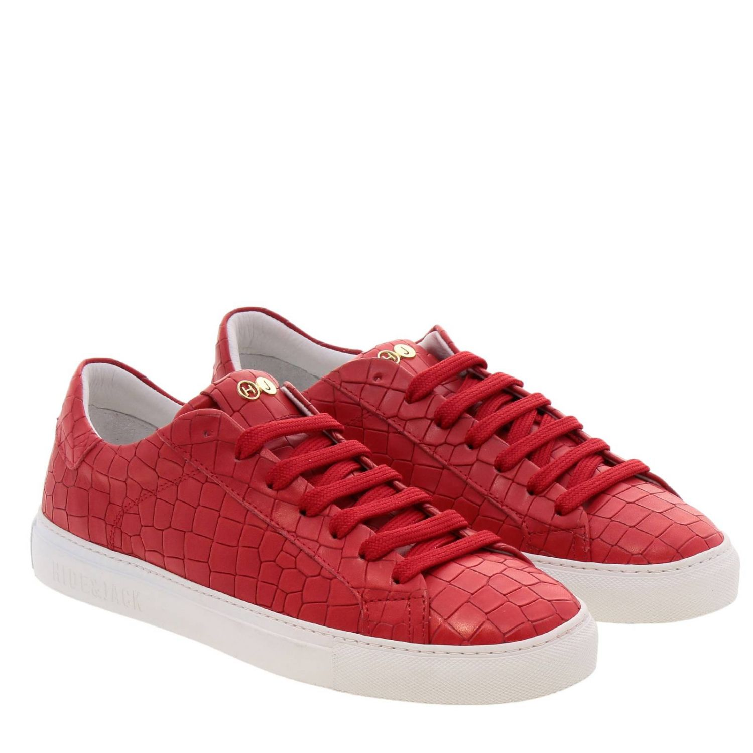 Chaussures homme Hide & Jack rouge 2