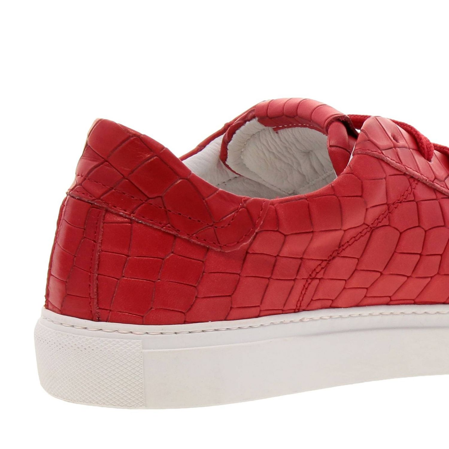 Chaussures homme Hide & Jack rouge 4