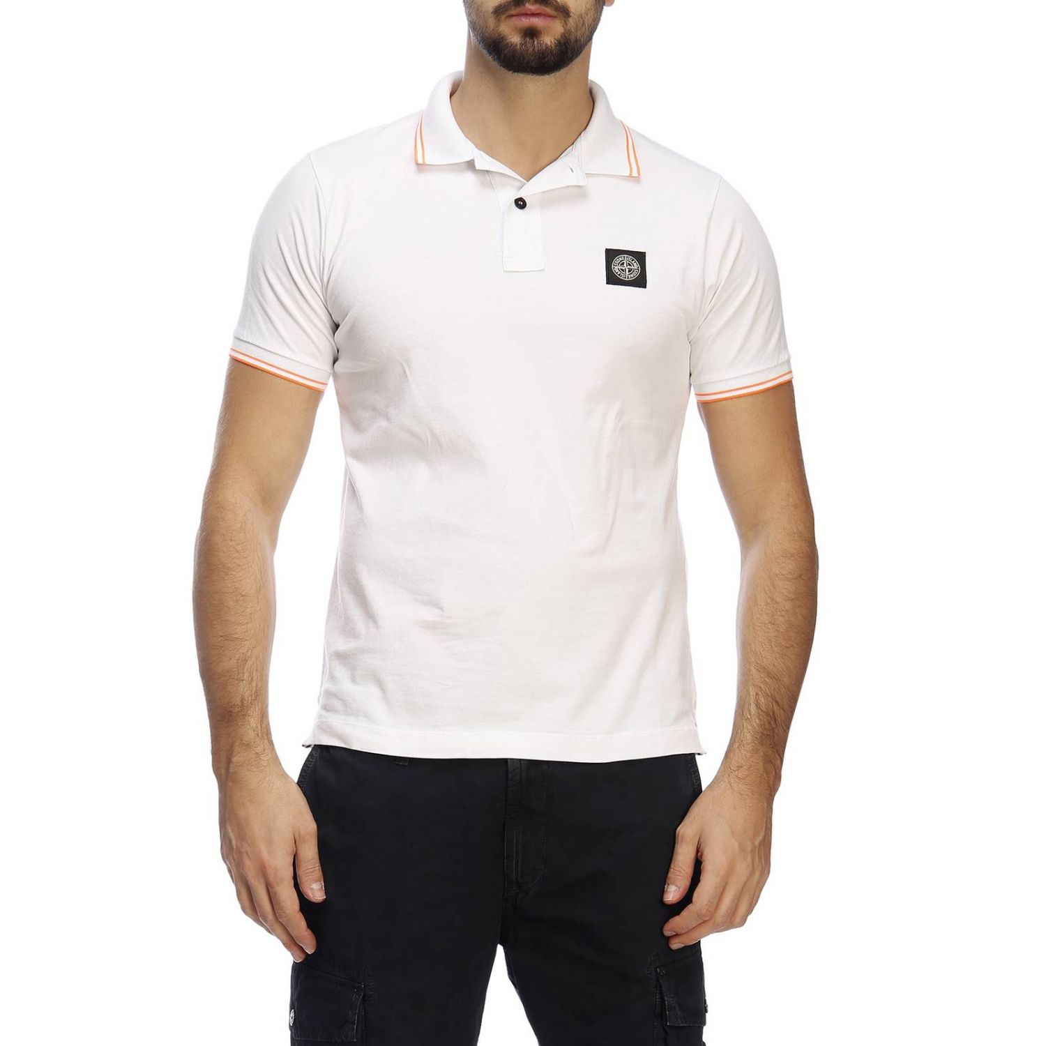 T-shirt men Stone Island white 1