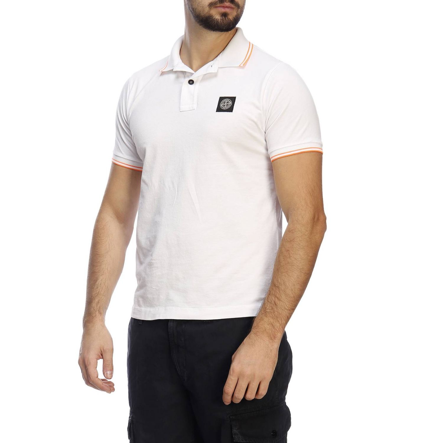 T-shirt men Stone Island white 2