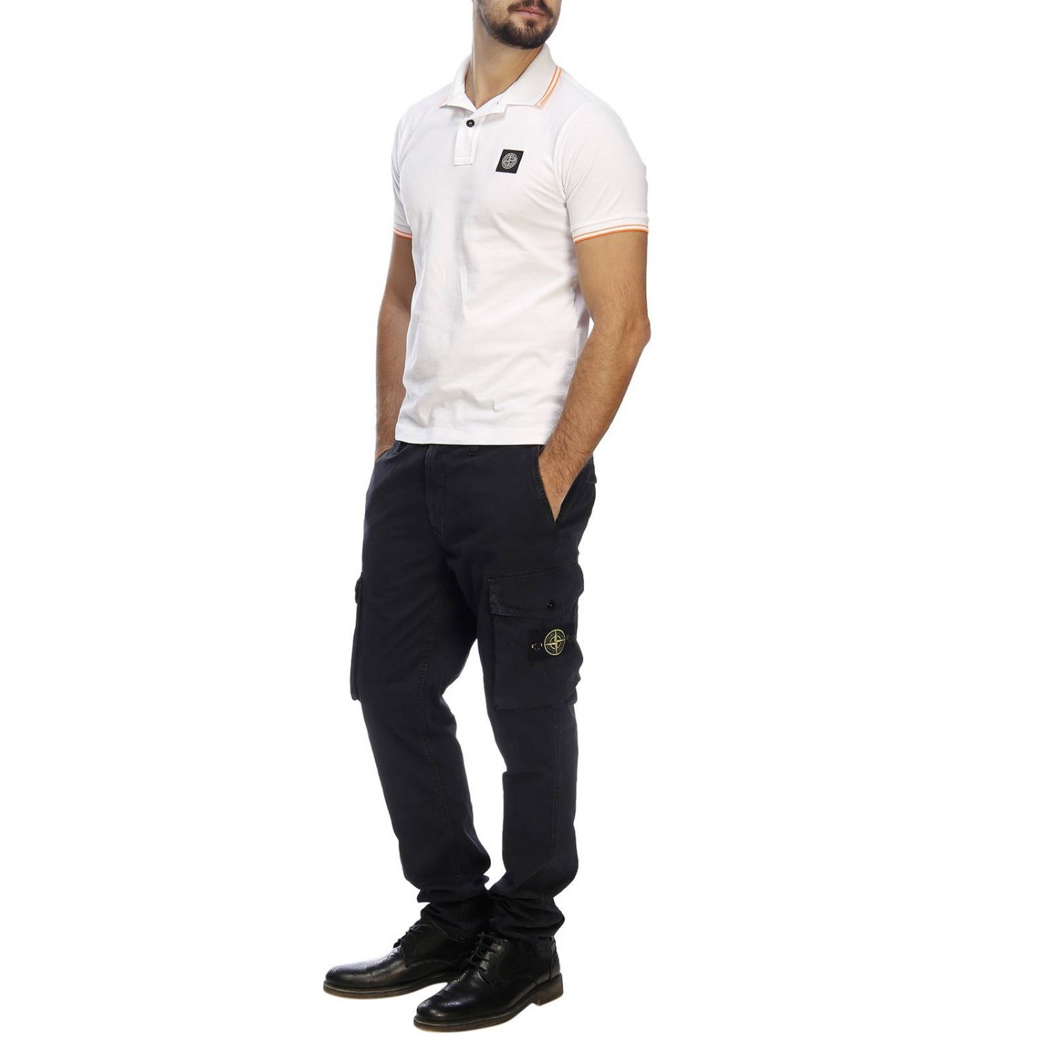 T-shirt men Stone Island white 4