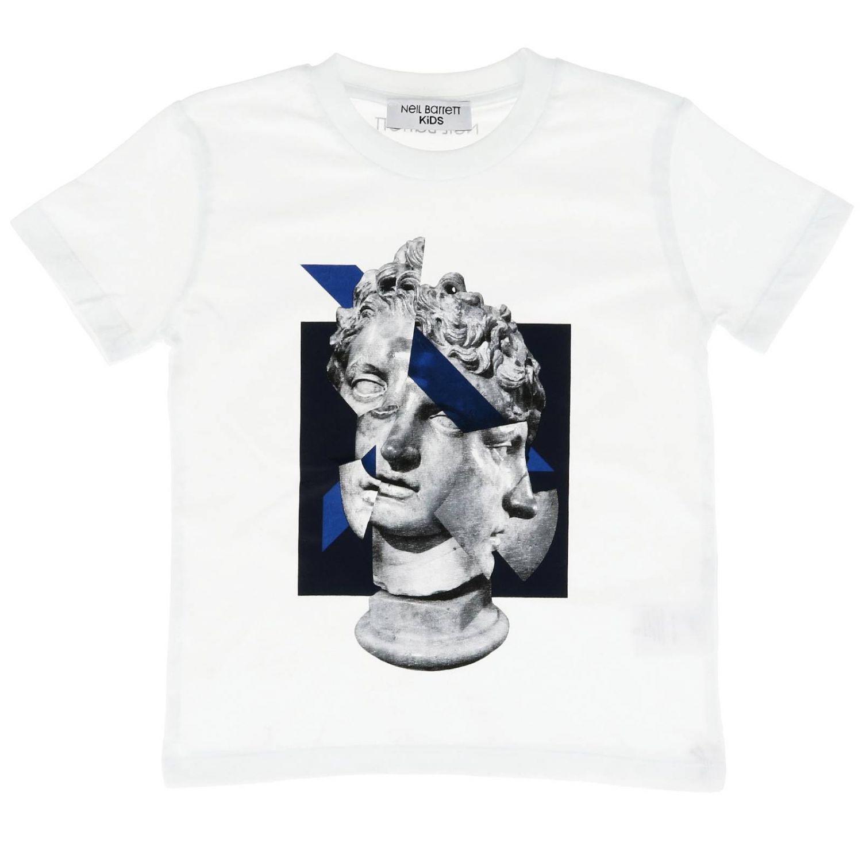 T-shirt kids Neil Barrett white 1