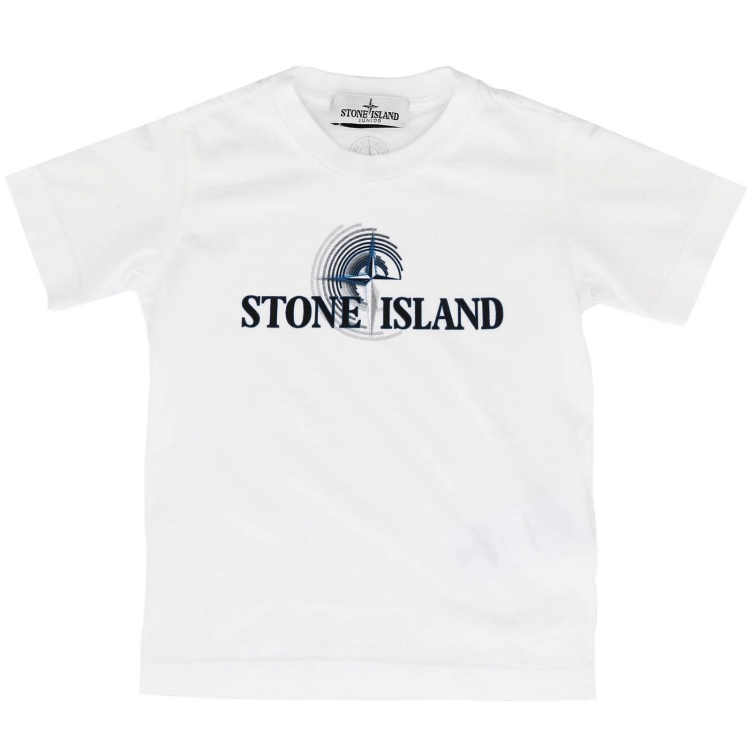 T-shirt kids Stone Island white 1