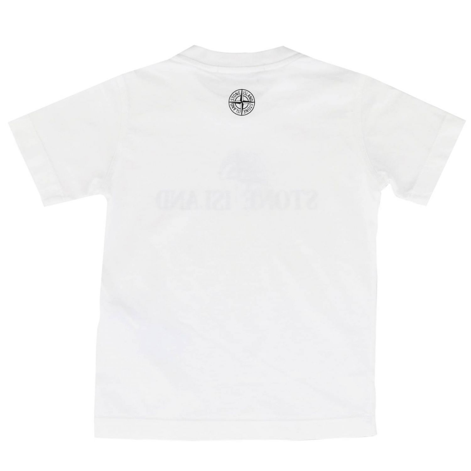 T-shirt kids Stone Island white 2