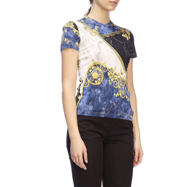 T-shirt women Versace Collection blue 2