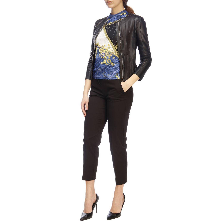 T-shirt women Versace Collection blue 4