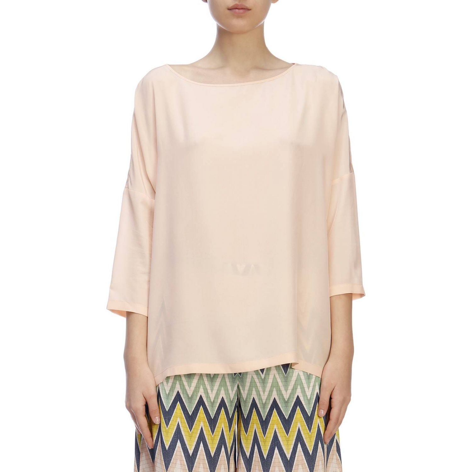 Top mujer M Missoni rosa pálido 1