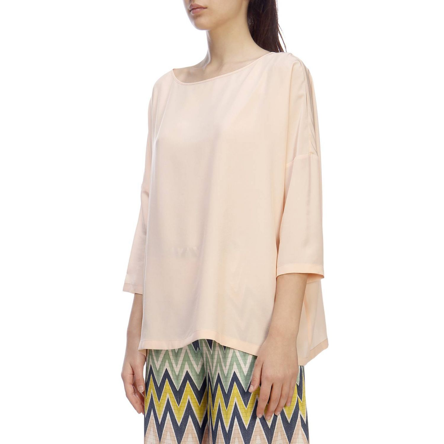 Top mujer M Missoni rosa pálido 2