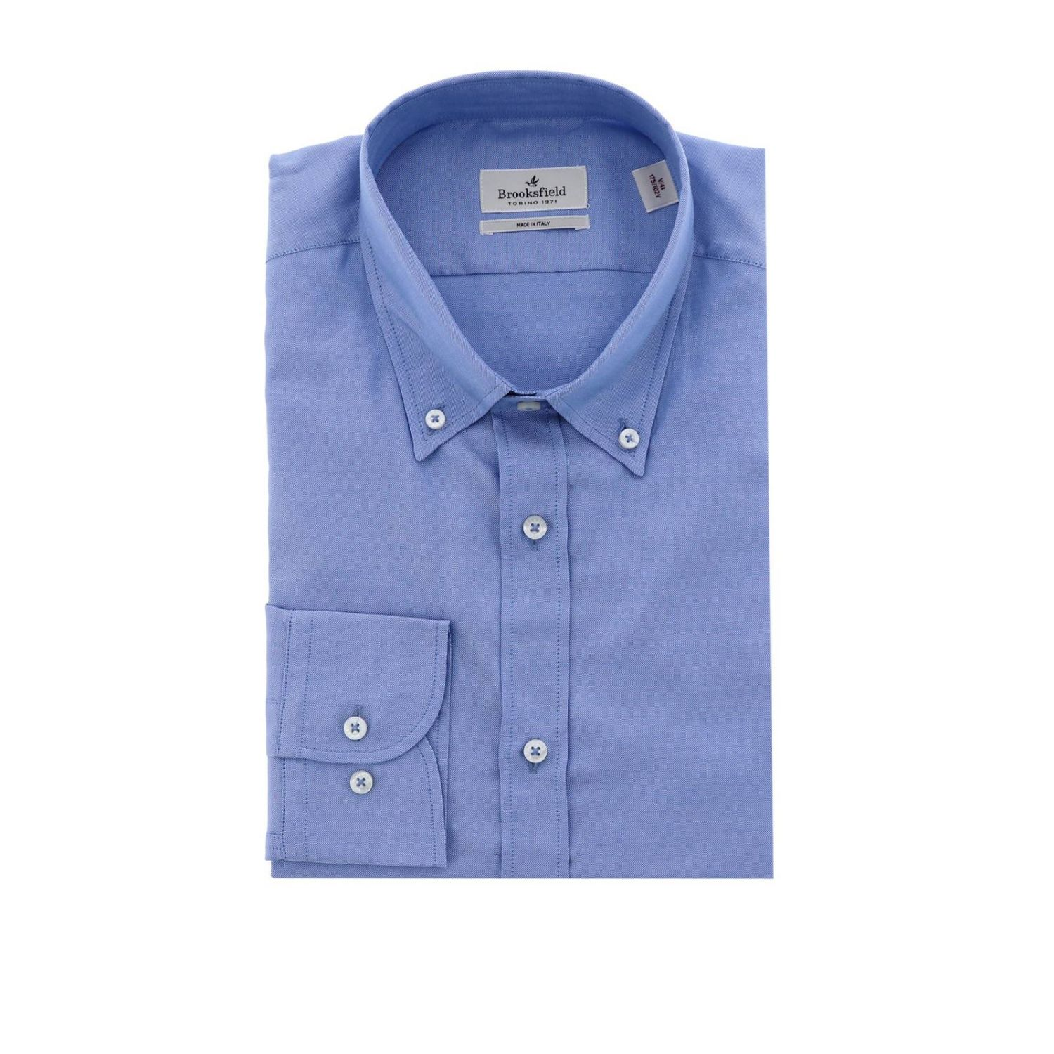 Shirt men Brooksfield blue 1