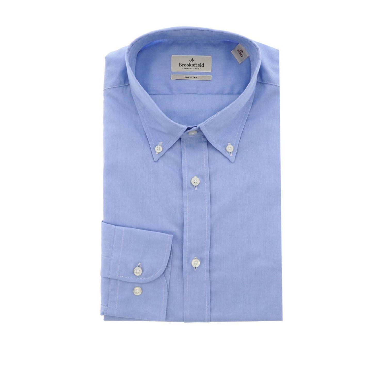 Shirt men Brooksfield sky blue 1