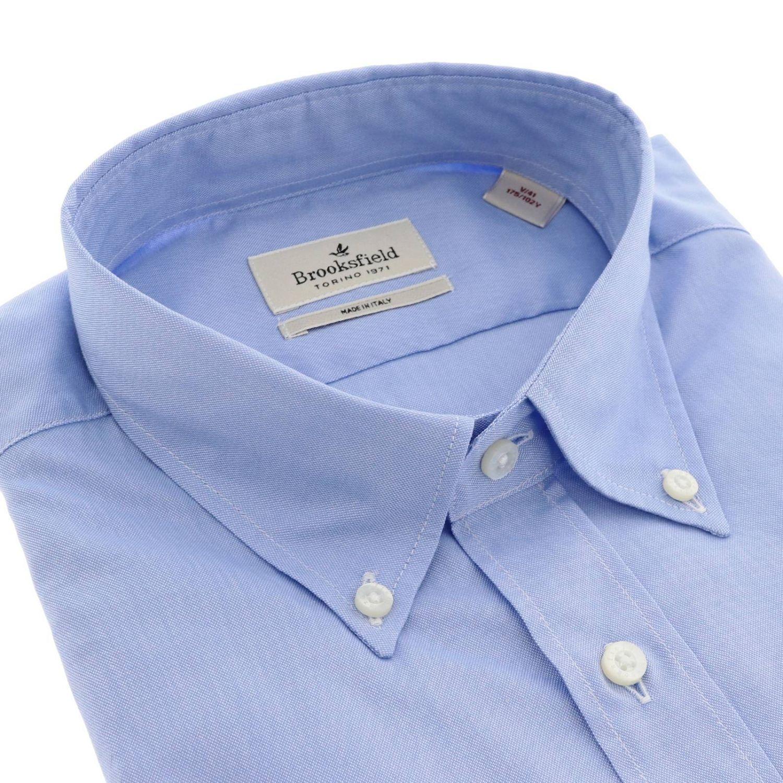Shirt men Brooksfield sky blue 2
