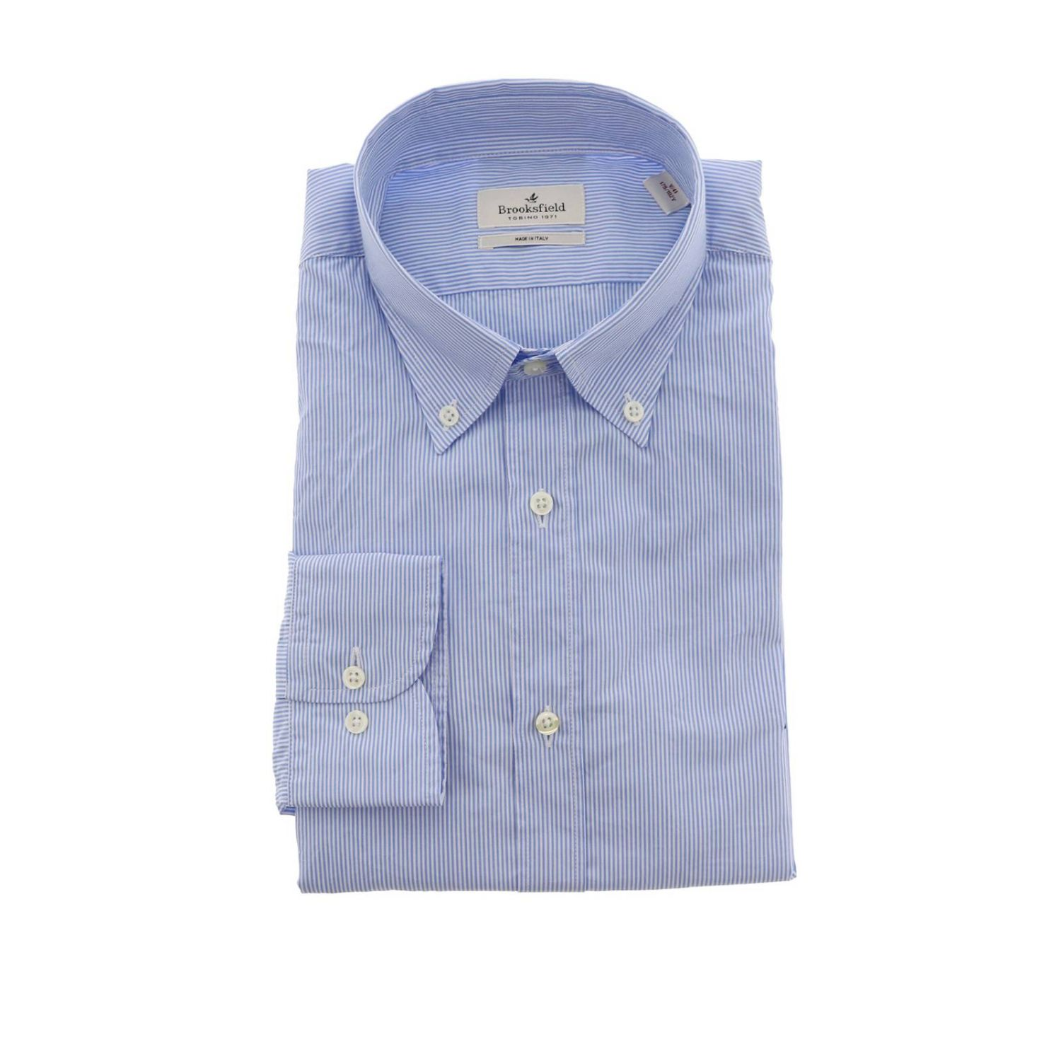 Shirt men Brooksfield gnawed blue 1