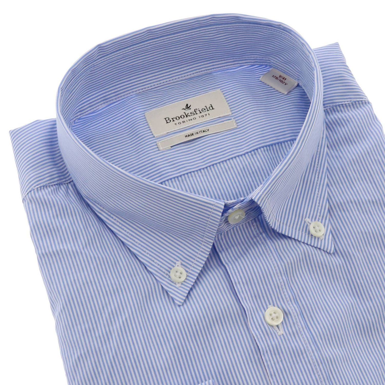 Shirt men Brooksfield gnawed blue 2