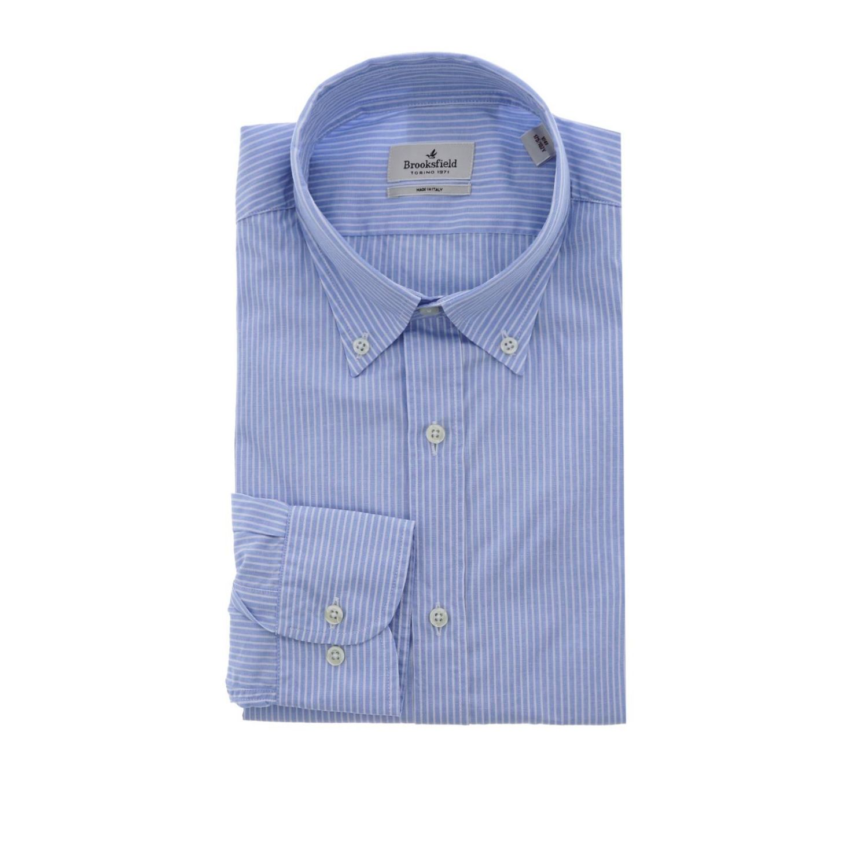 Camisa hombre Brooksfield cielo 1