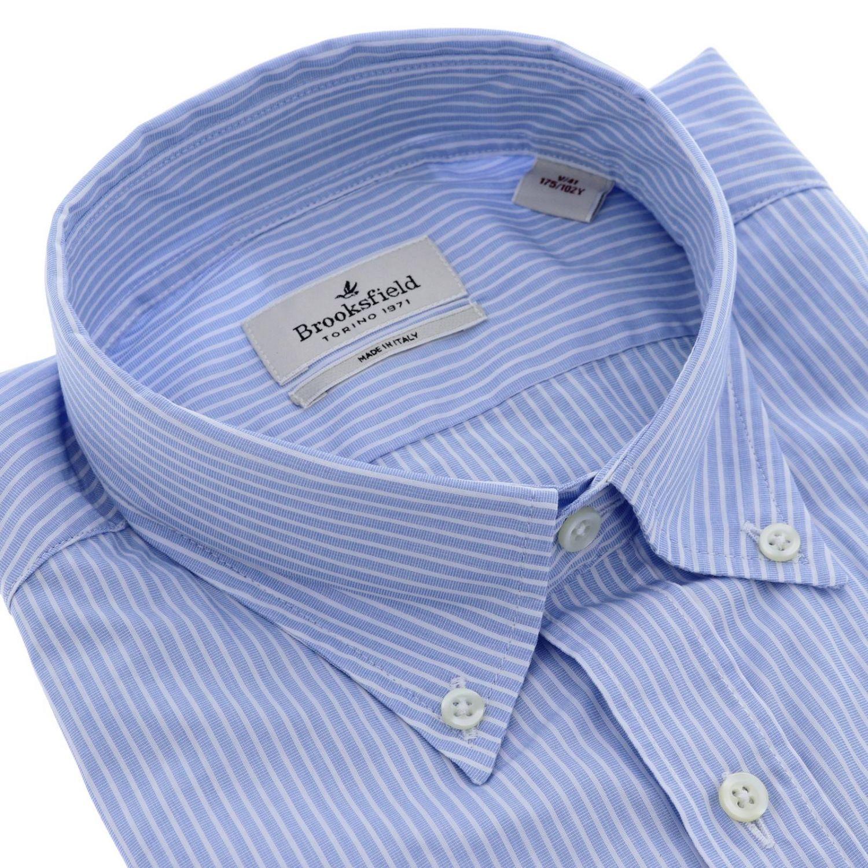 Camisa hombre Brooksfield cielo 2