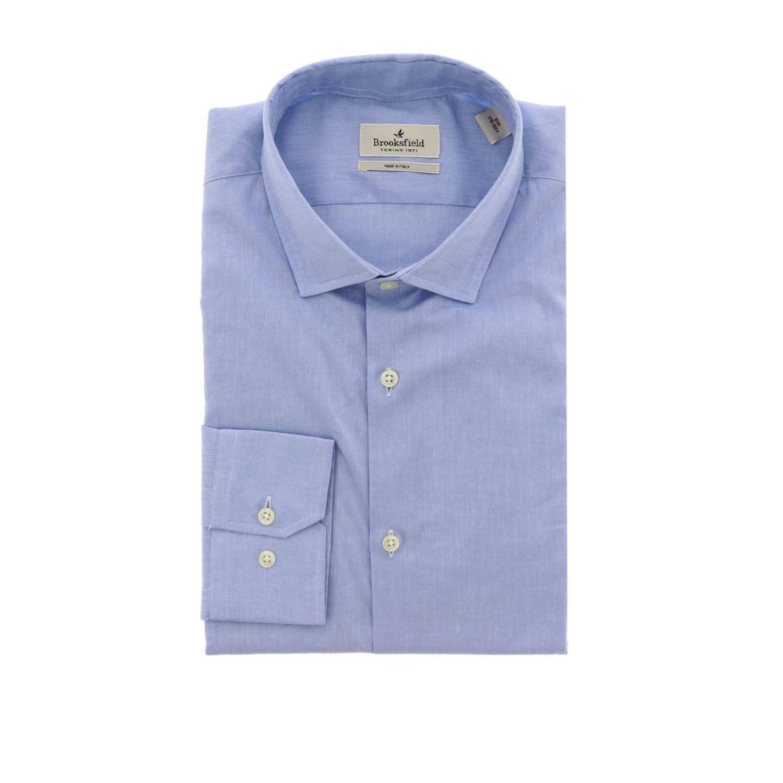 Camisa hombre Brooksfield celeste 1