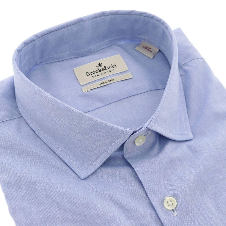 Camisa hombre Brooksfield celeste 2