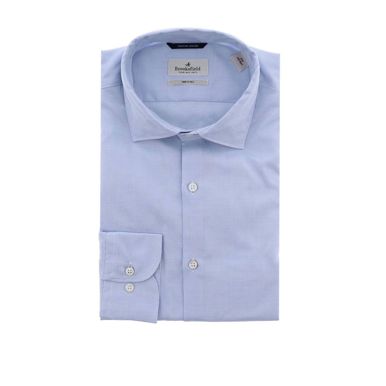 Рубашка Мужское Brooksfield небесно-голубой 1