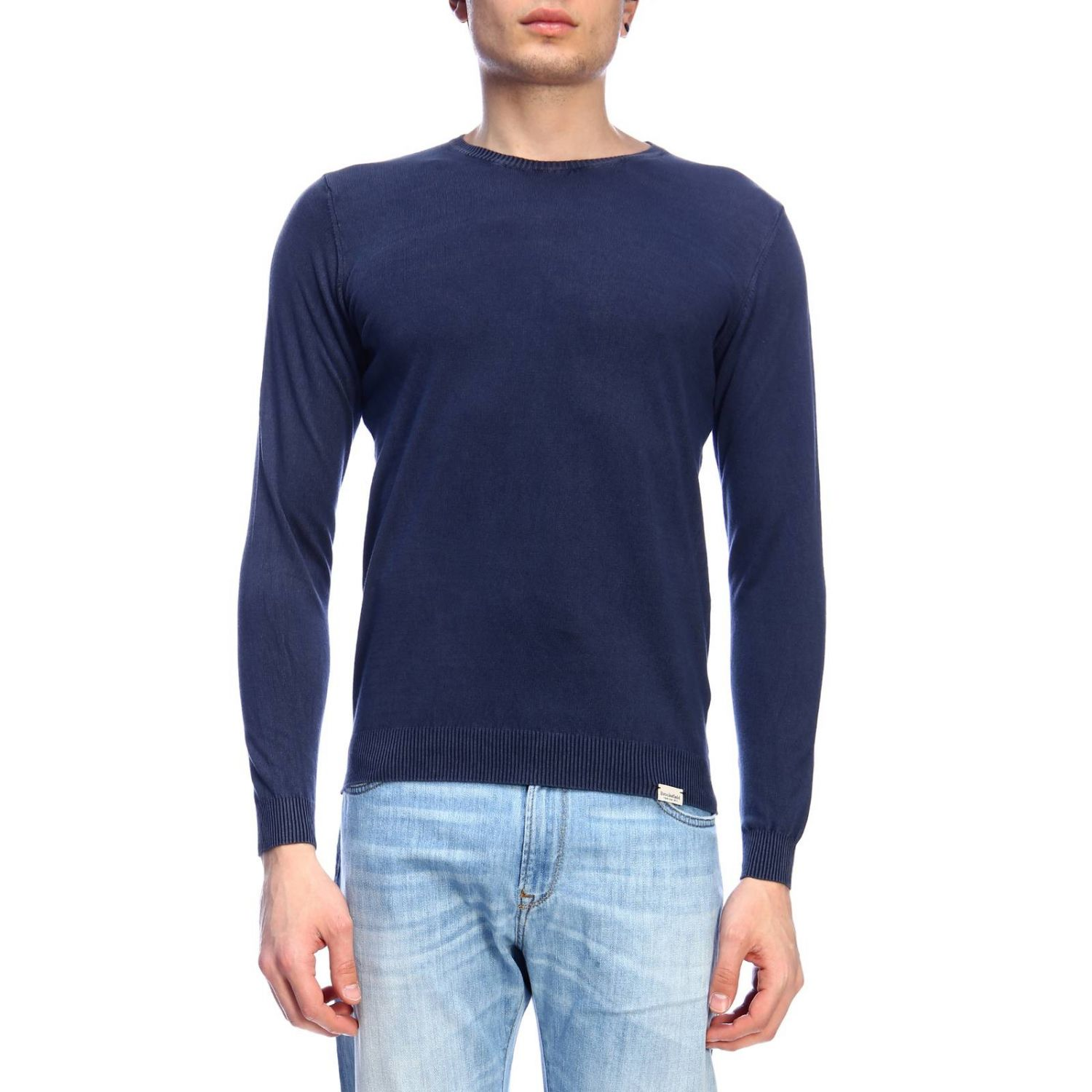 Pull homme Brooksfield bleu 1