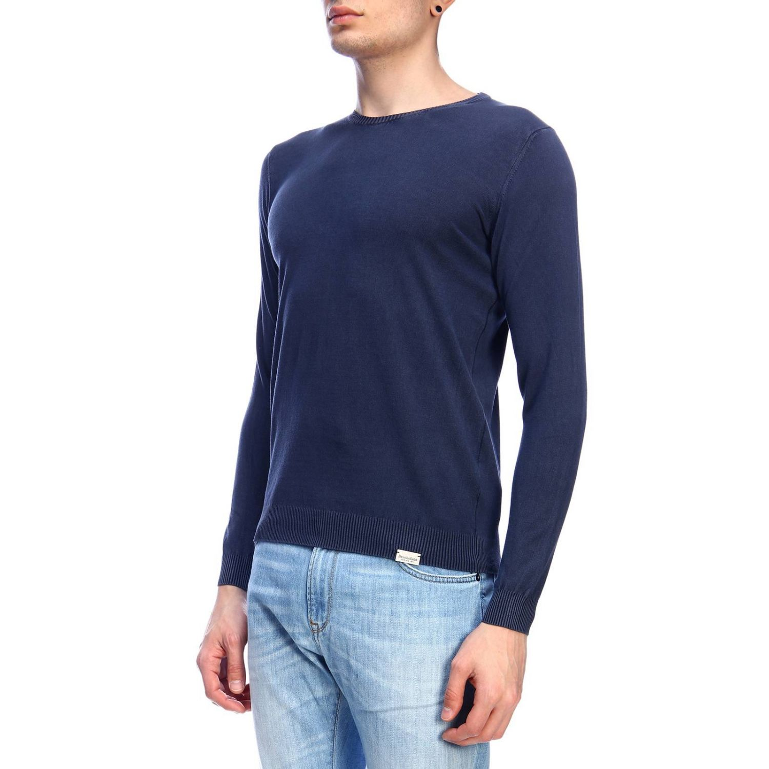 Pull homme Brooksfield bleu 2