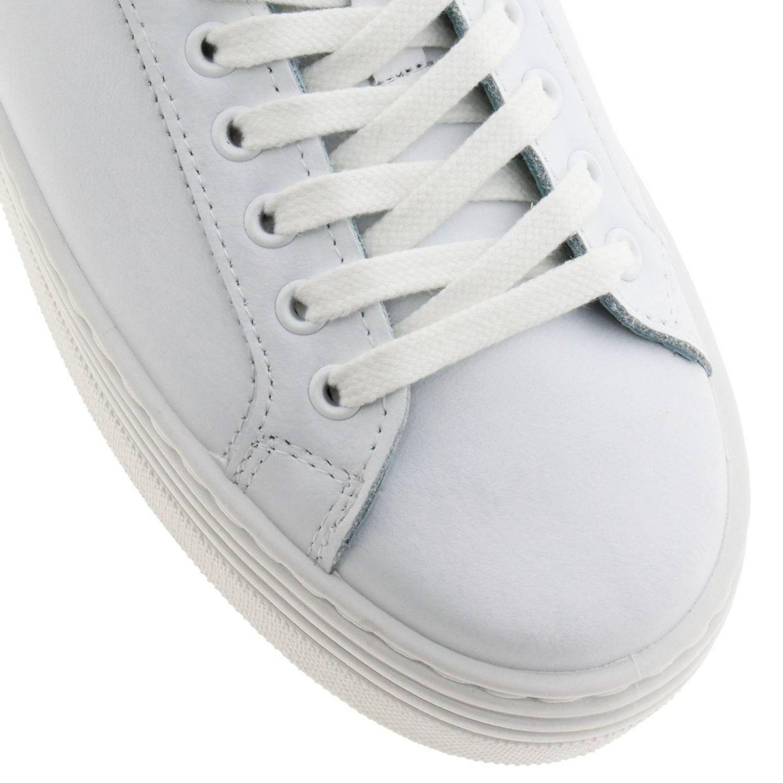 Sneakers Chiara Ferragni stringata in pelle con tallone glitter e maxi Eye Flirting bianco 3
