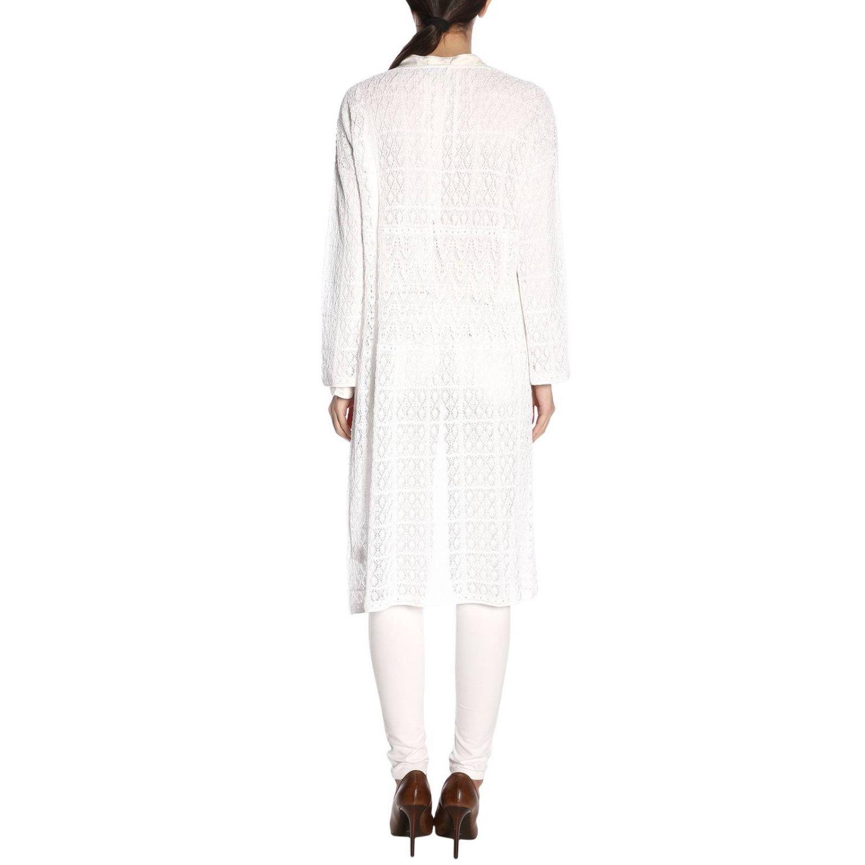 Cardigan lungo cotone uncinetto bianco 3