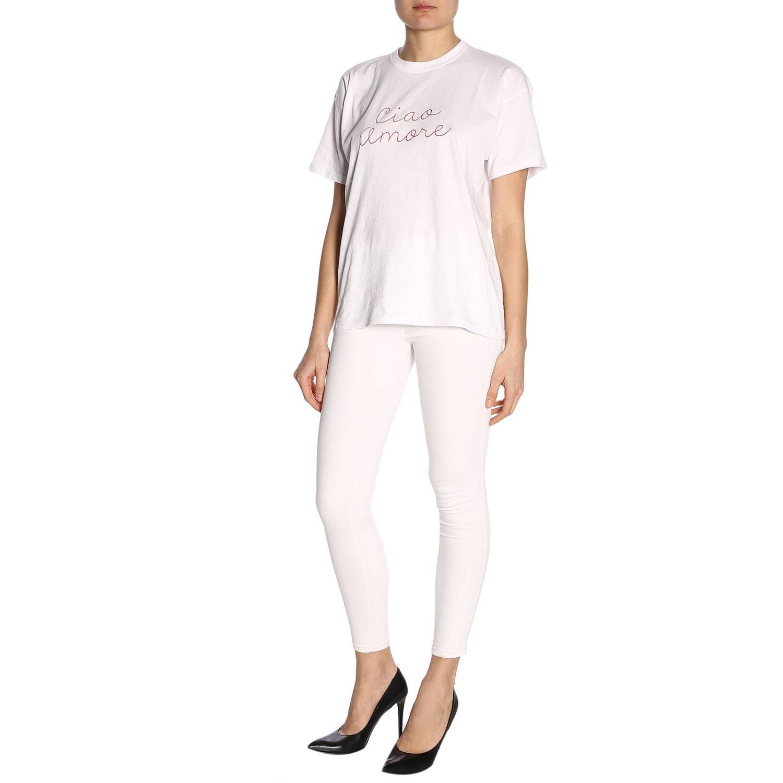 T-shirt damen Giada Benincasa weiß 4