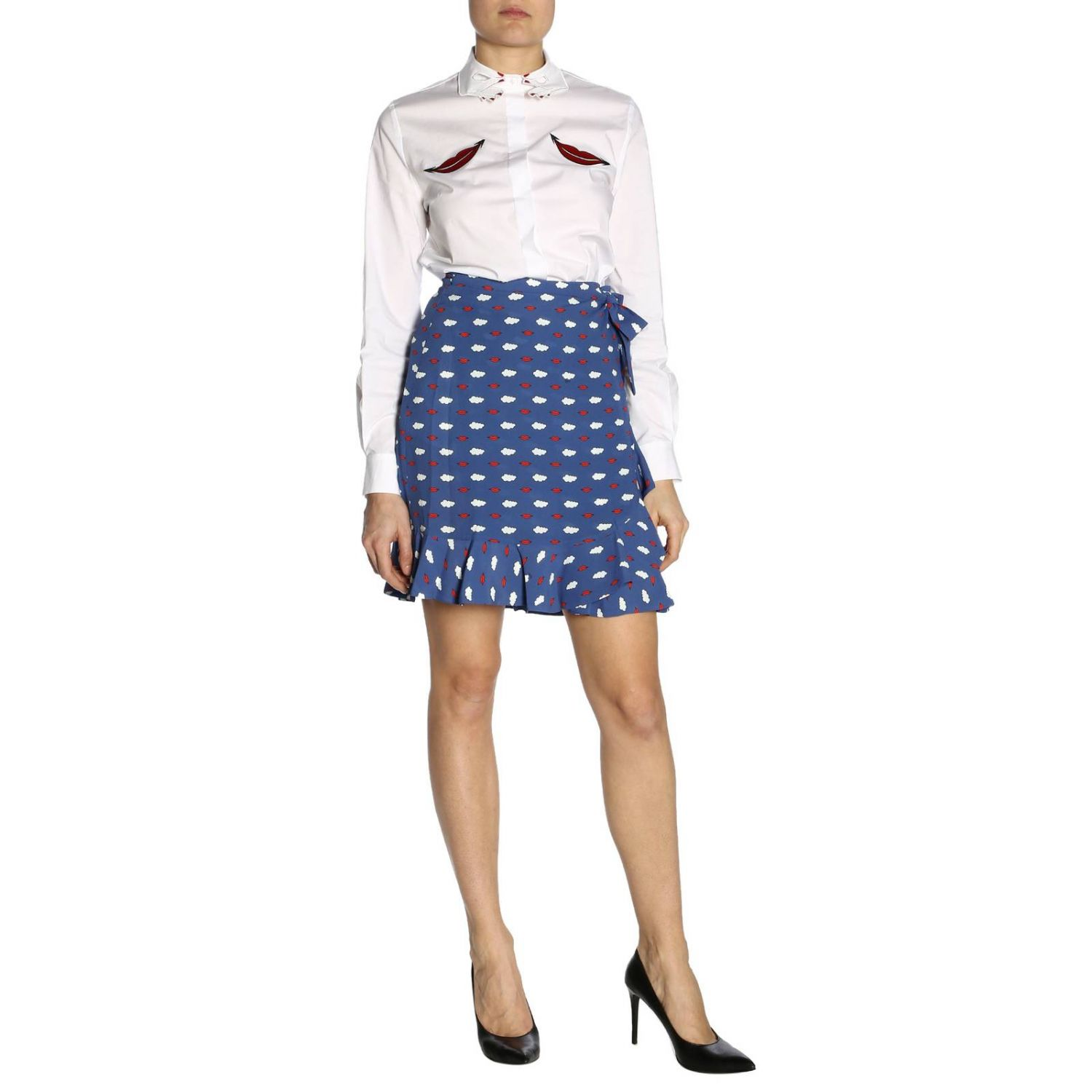 Skirt women Vivetta blue 4